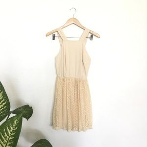 Altar'd State cream lace dress